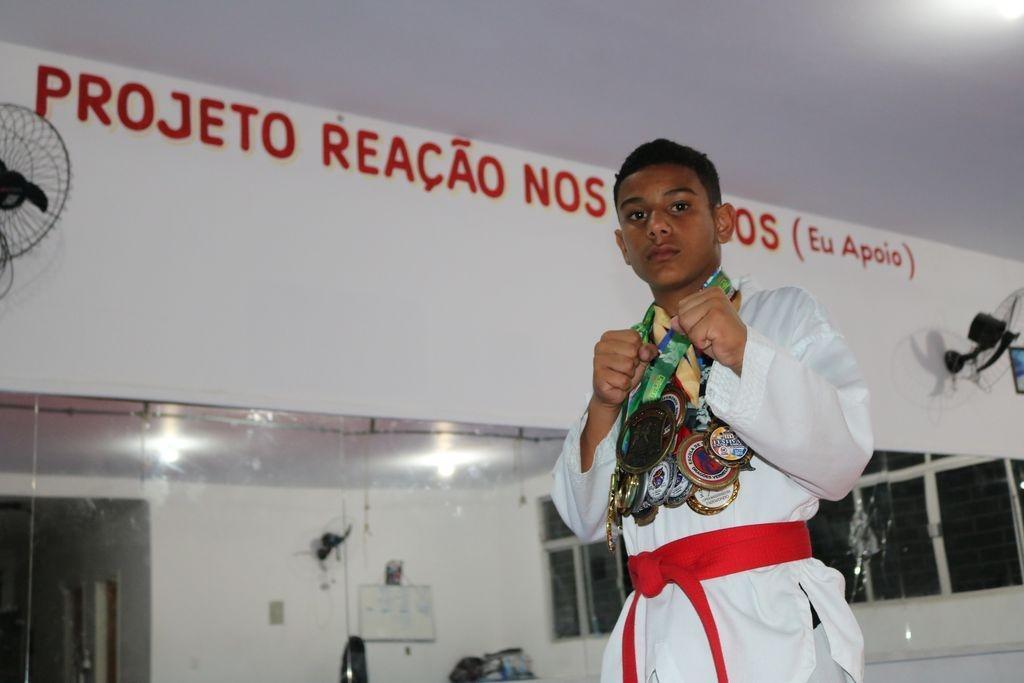 Kauã, fera do taekwondo