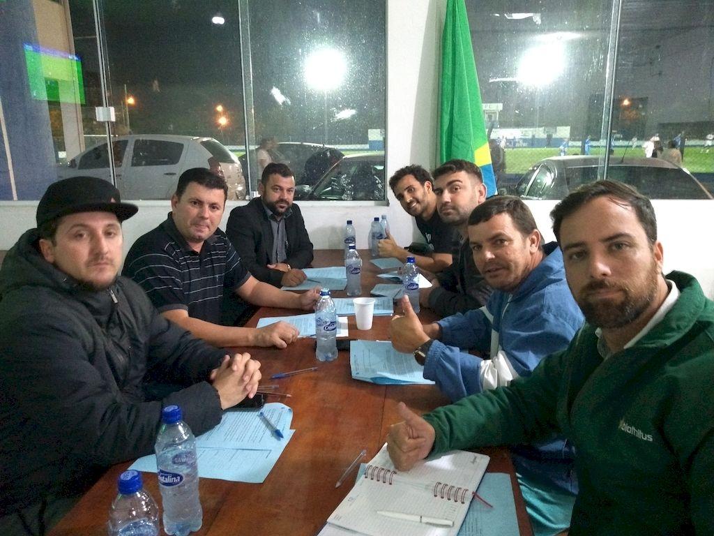 Reunião da Copa Barra e time do 50Tão