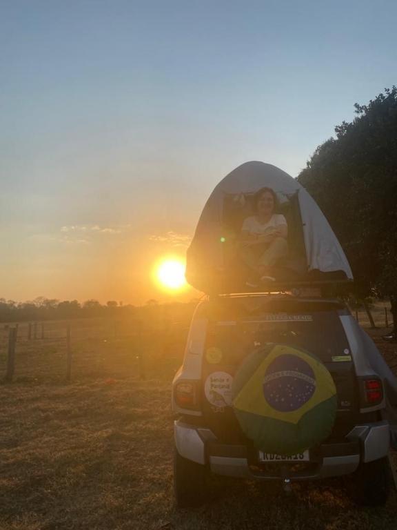 Casal de Palhoça viaja de carro para conhecer o Pantanal