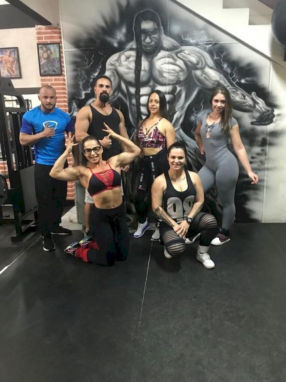 Academia Mafra faz treinão de body building (fisiculturismo)