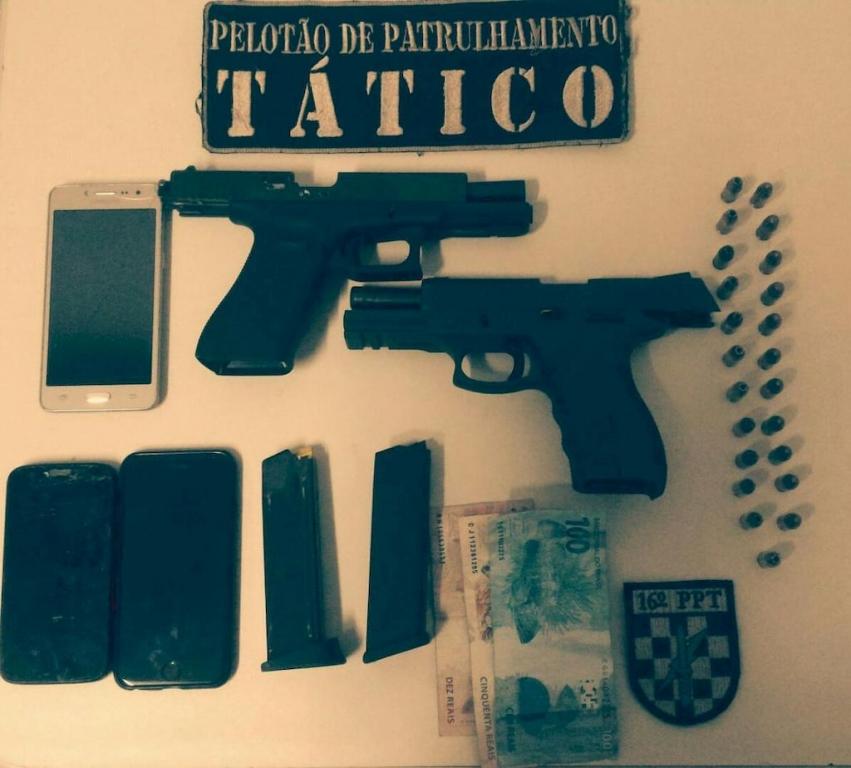 Coluna Policial: armas apreendidas