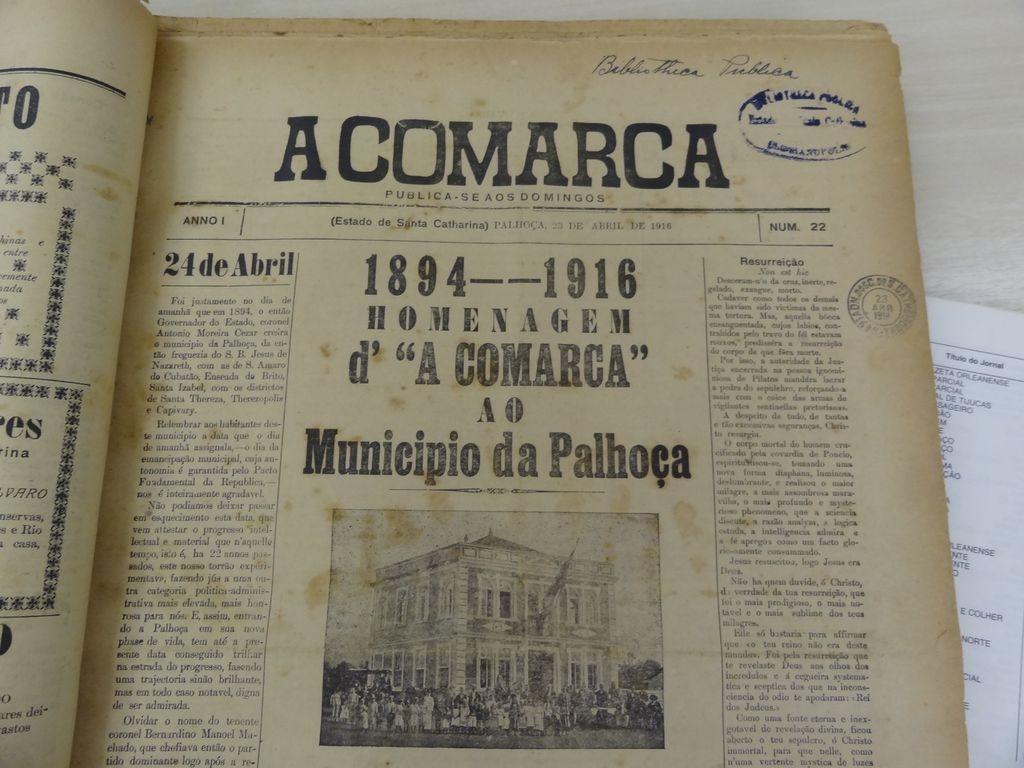 Jornal de 1916 registra aniversário de 22 anos