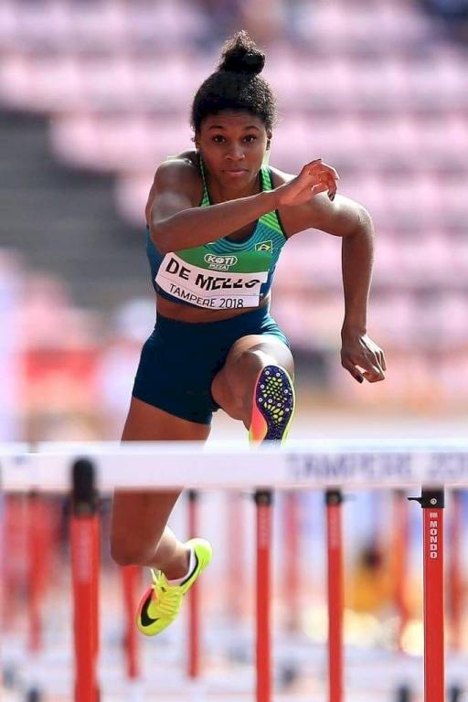 Atleta Micaela Mello nos Joguinhos e no Mundial Sub-20