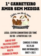 Carreteiro marca lançamento da ONG Amor Sem Medida