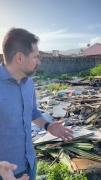 Fabinho mostra preocupação com descarte indevido de lixo