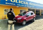PRF apreende carro com placa clonada de Palhoça