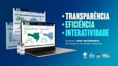 SC lança novo vacinômetro para dar mais transparência na apresentação dos dados