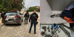 Casal é preso por porte ilegal de armas de fogo
