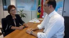 Dirce se reúne com presidente da SCGÁS
