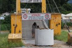 Prefeitura interdita ponte pênsil sobre o Cubatão