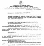 Prefeitura reedita decreto com medidas restritivas