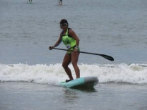 Feras do stand up paddle se reúnem na Pinheira