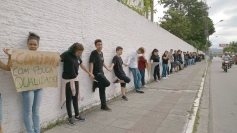 Estudantes fazem manifestação no Ivo Silveira