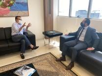 Hélio Costa pede apoio para hospital em Palhoça