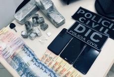 Três pessoas presas por tráfico de drogas
