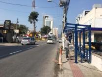 Novo ponto de ônibus no Centro
