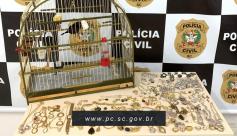 Polícia Civil recupera pássaro e joias furtados