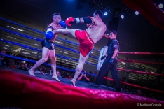 Atleta do Madri vence desafio de muay thai