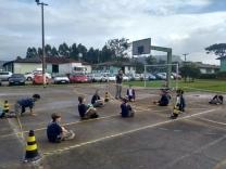 Escoteiros fazem atividades no Dom Jaime