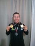 Cleomar conquista medalhas no Parajasc