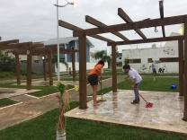 Moradores preservam espaços públicos