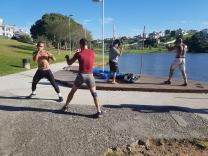 Lutadores de MMA treinam na Pedra Branca