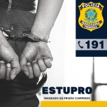 Acusado de estupro é preso pela PRF em Palhoça
