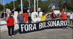 """Comitê """"Fora Bolsonaro"""" faz manifestação"""