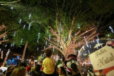 Chegada do Papai Noel abre Natal no Centro