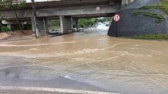 Com volume recorde, chuva provoca estragos em Palhoça