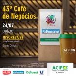Palhocense participa do Café de Negócios