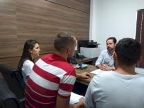 Fabinho recebe representantes de candidatos do CBMSC